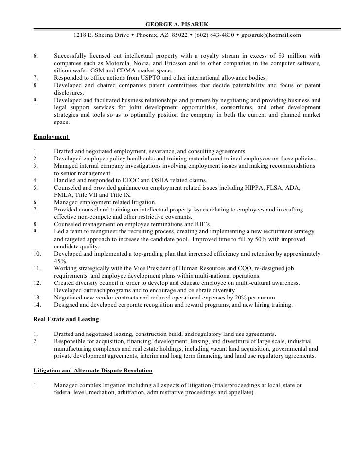 intellectual property attorney sample resume ip attorney sample - Ip Attorney Sample Resume
