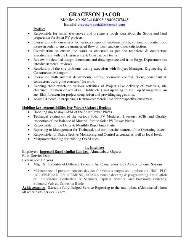 Exelent Siemens Renewable Energy Resume Images - Administrative ...
