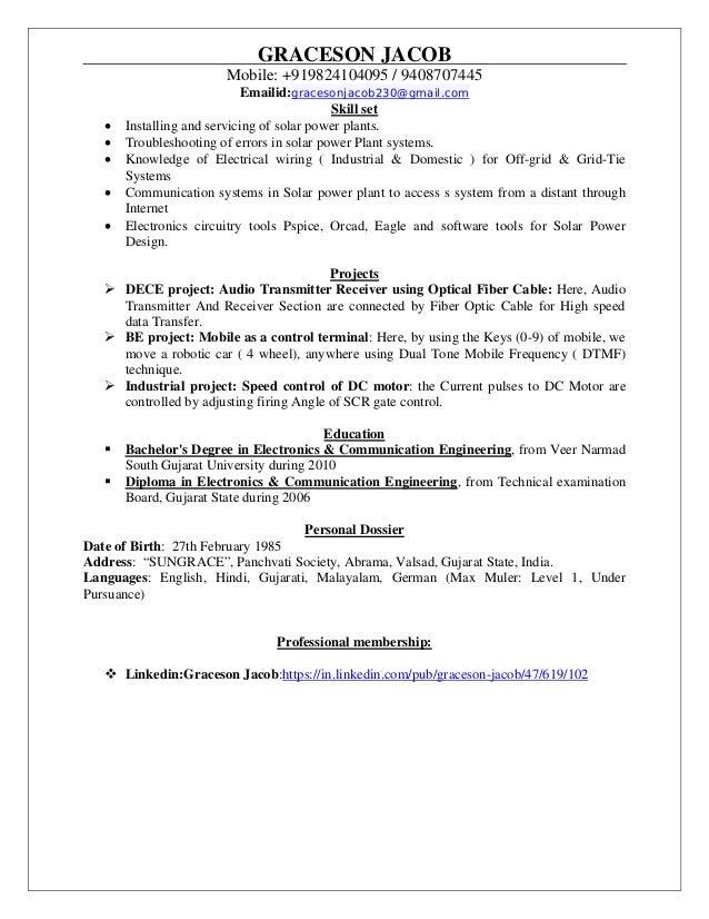 Resume graceson cv solar pdf