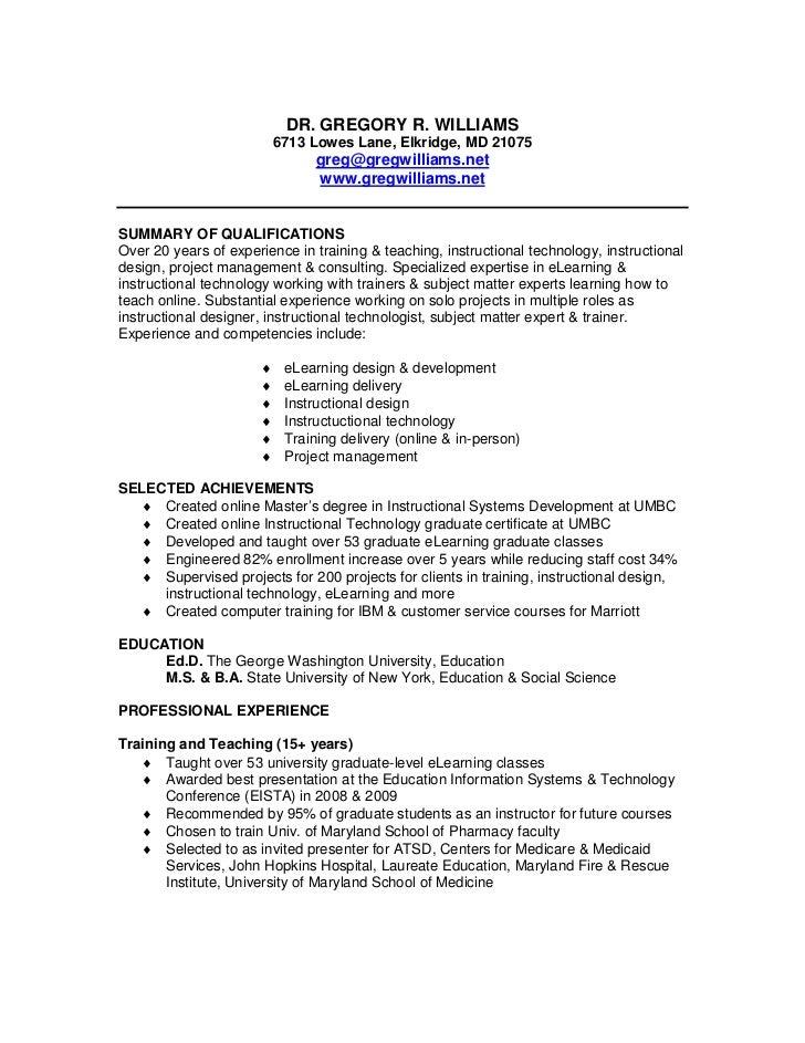 Instructional Technology Specialist Sample Resume] Instructional ...