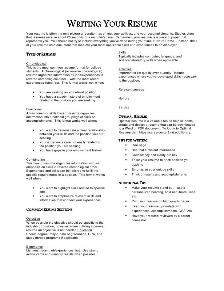 The do s and don ts of resumes            Use