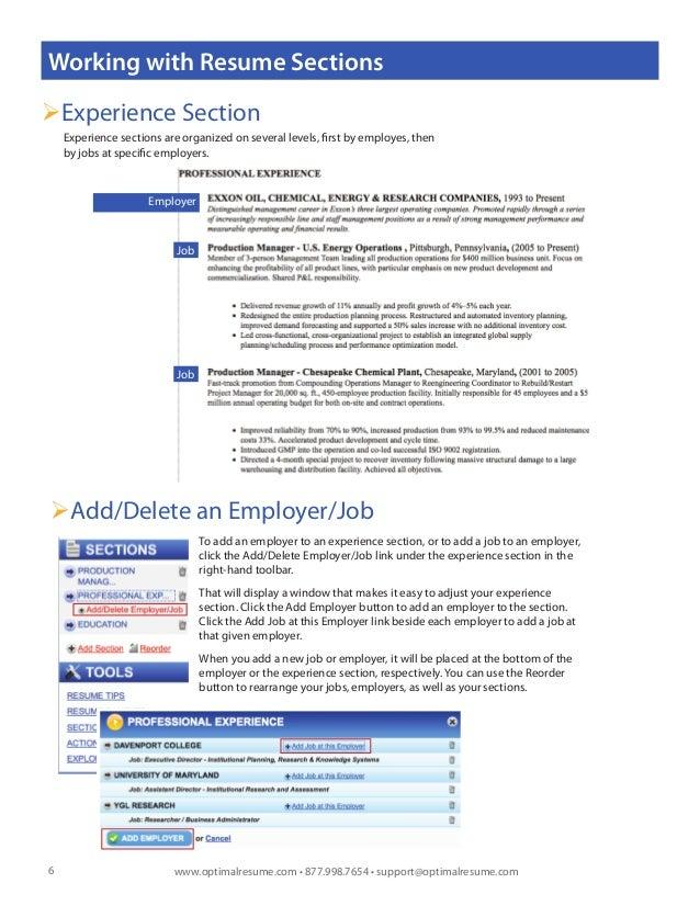 optimal 2 0 resume builder help - Optimal Resume Ou