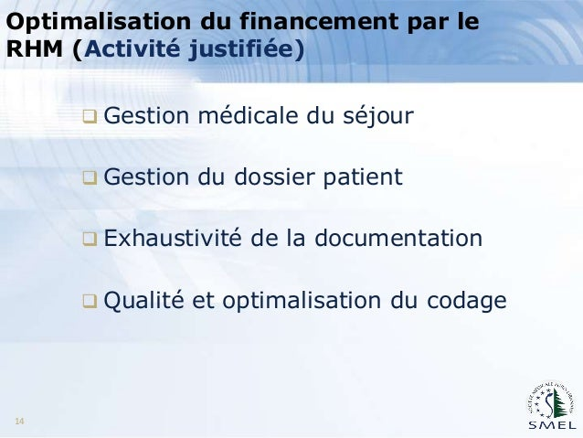 resume hospitalier minimum