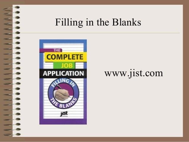 resume filling blanks