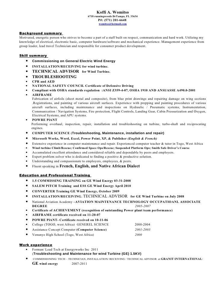 Koffi A. Womitso ...  Sheet Metal Resume