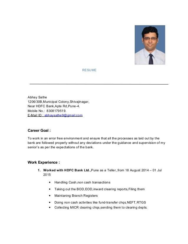 resume latest abhay sathe