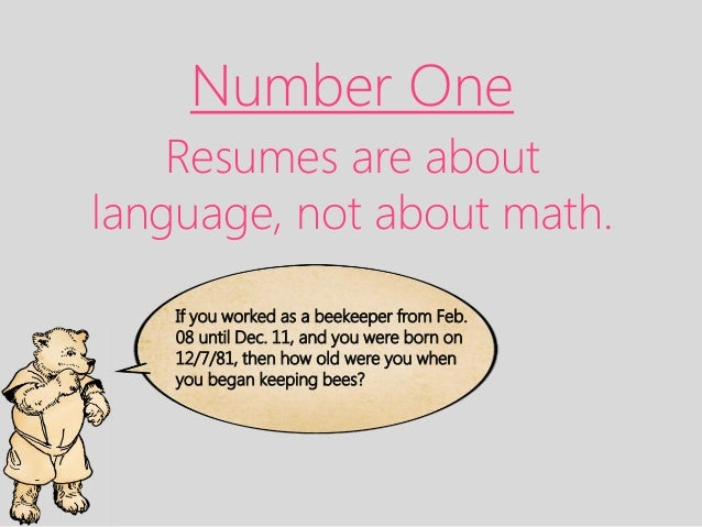 ten simple tips 3 number one resumes