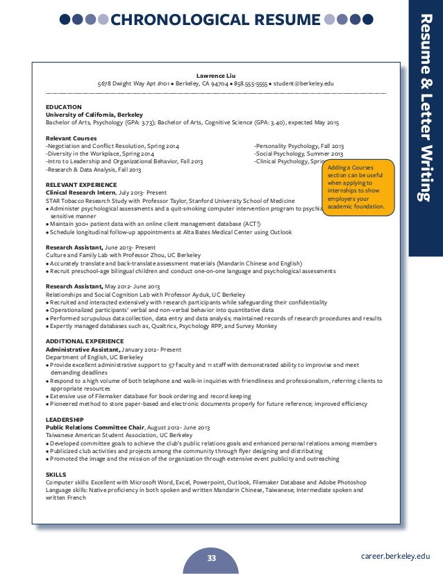 Berkeley resume book