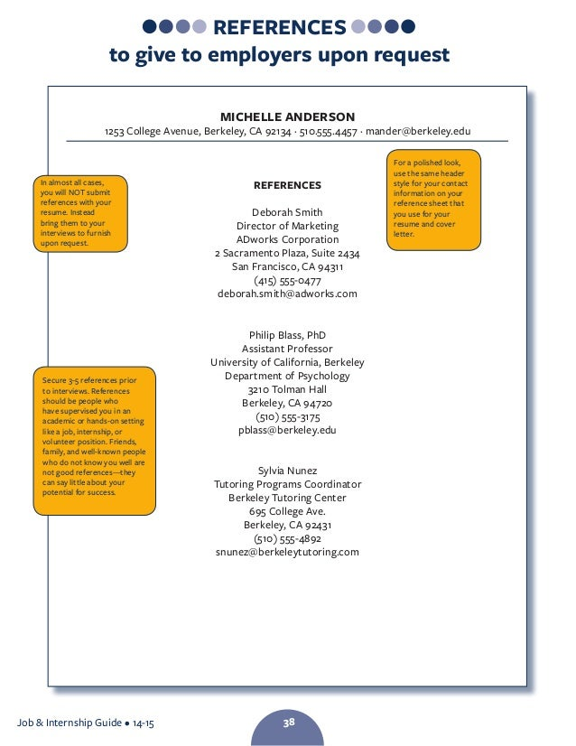 who to use as a reference on a resume