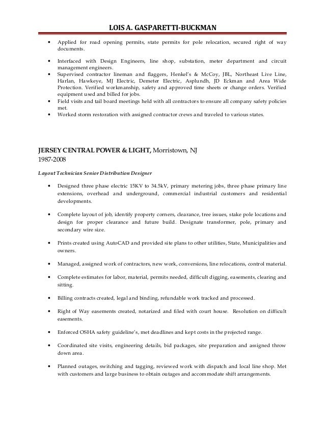 Belyea Company Electric Power Systems Easton Pa: Resume Lois 12-2015