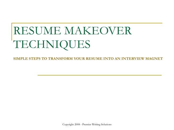 Resume Makeover Strategies Visualcv