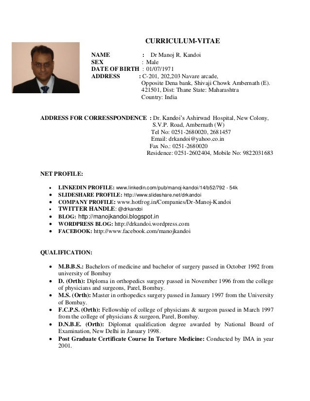 Resume Indian Dentist Resume Example Indian Dentist Resume Format Sample In  India Fresher Updated