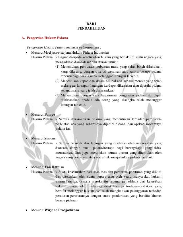 resume materi hukum pidana