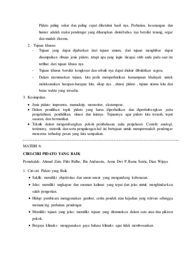 resume materi mata kuliah ilmu retorika 10 638 - Jenis Jenis Pidato Dan Contohnya