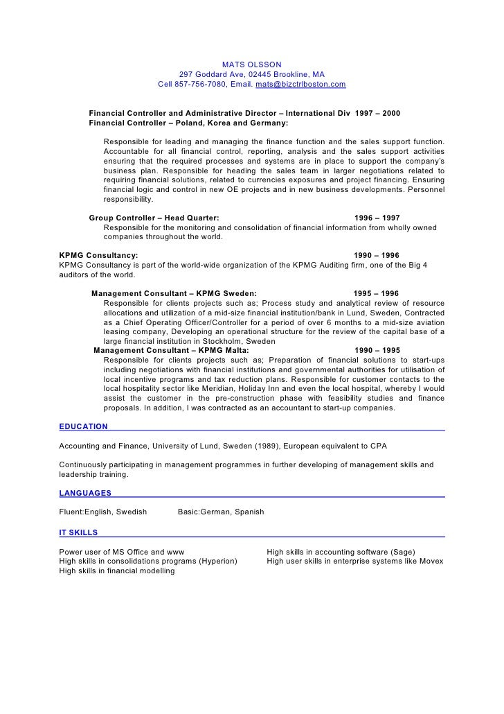 resume responsibility