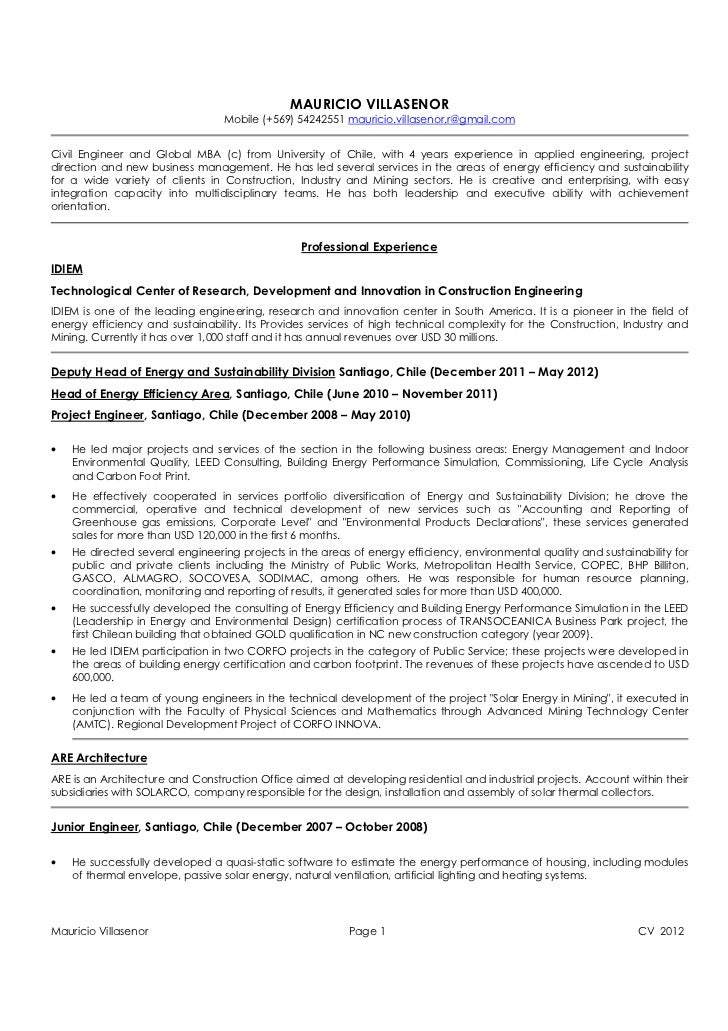 Resume Mauricio Villasenor (English Version)