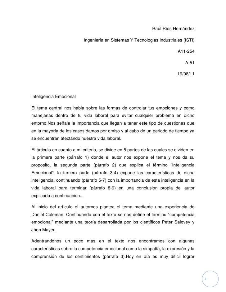 Raúl Ríos Hernández<br />Ingeniería en Sistemas Y Tecnologias Industriales (ISTI)<br />A11-254<br />A-51<br />19/08/11<br ...
