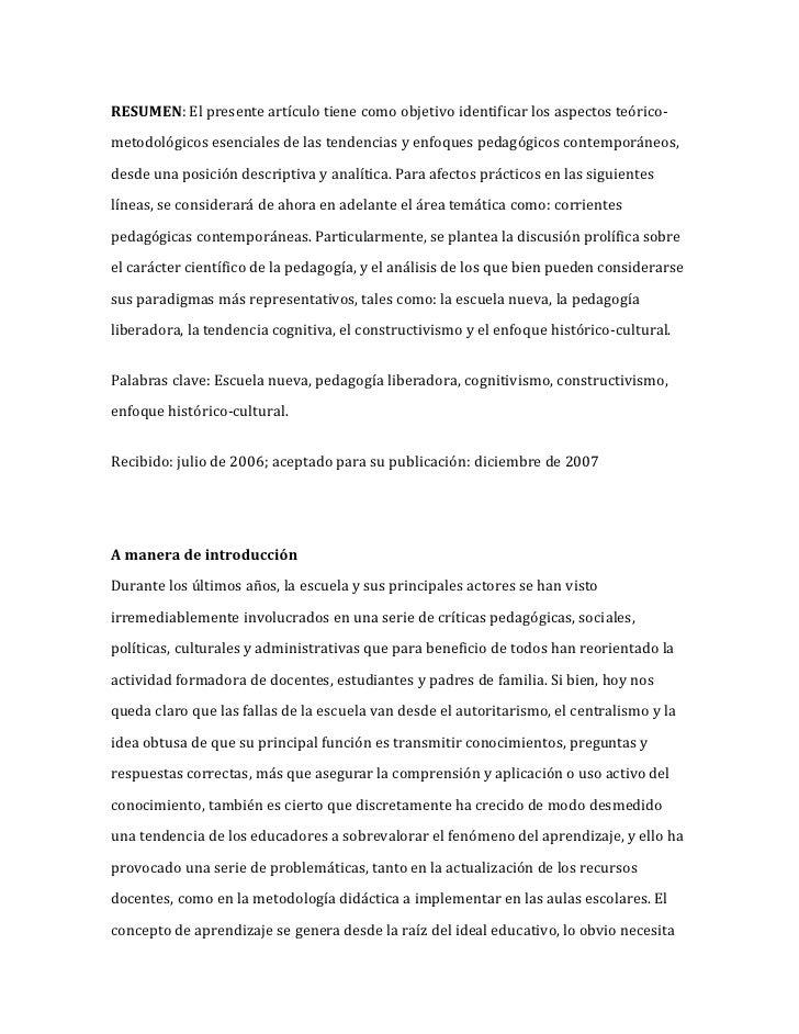 RESUMEN: El presente artículo tiene como objetivo identificar los aspectos teórico-metodológicos esenciales de las tendenc...