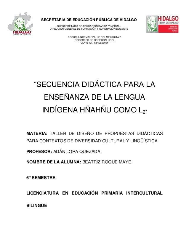 SECRETARIA DE EDUCACIÓN PÚBLICA DE HIDALGOSUBSECRETARIA DE EDUCACIÓN BÁSICA Y NORMALDIRECCIÓN GENERAL DE FORMACIÓN Y SUPER...