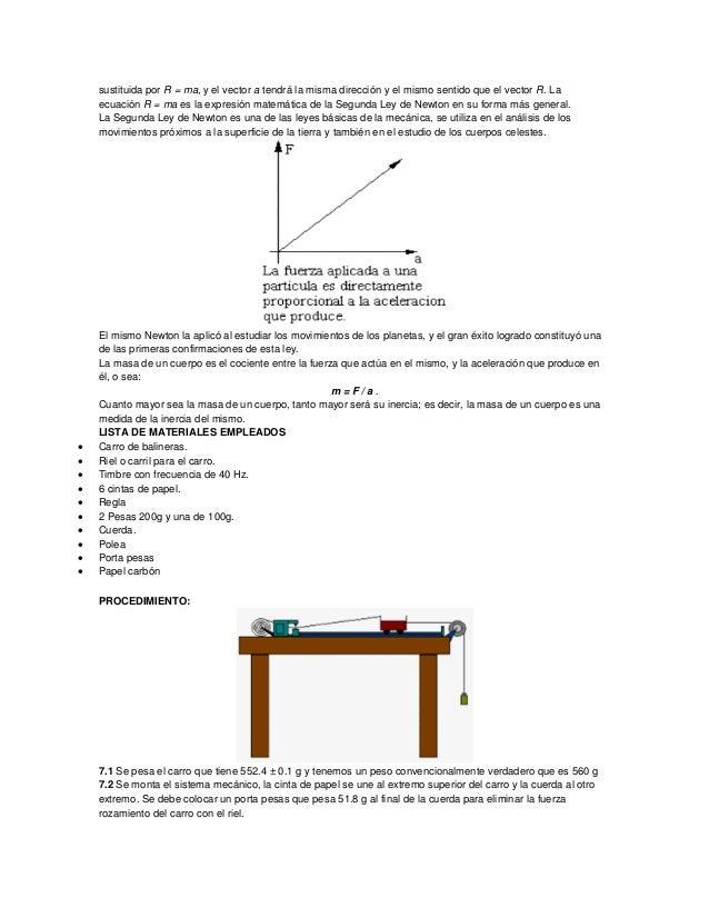 sustituida por R = ma, y el vector a tendrá la misma dirección y el mismo sentido que el vector R. La ecuación R = ma es l...