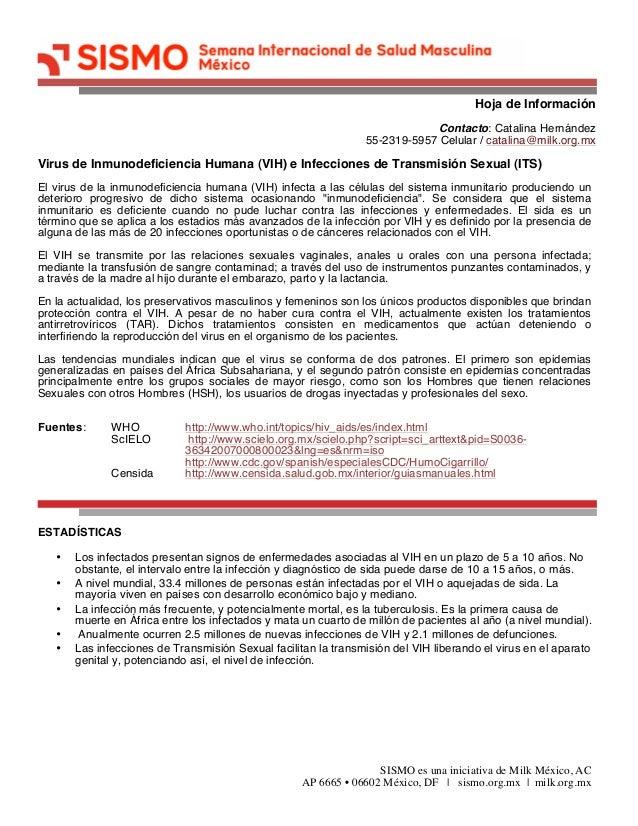 Hoja de Información SISMO es una iniciativa de Milk México, AC AP 6665 • 06602 México, DF | sismo.org.mx | milk.org.mx Con...