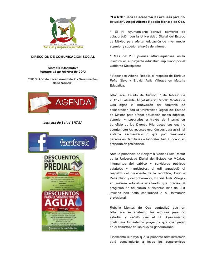"""""""En Ixtlahuaca se acabaron las excusas para no                                                  estudiar"""". Ángel Alberto R..."""