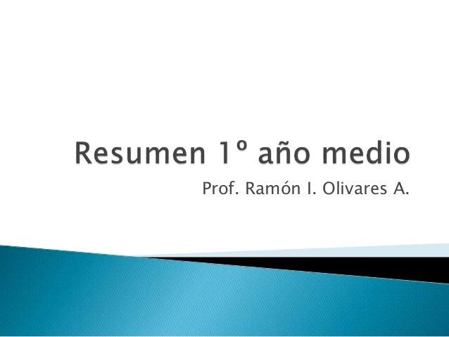 Prof. Ramón I. Olivares A.