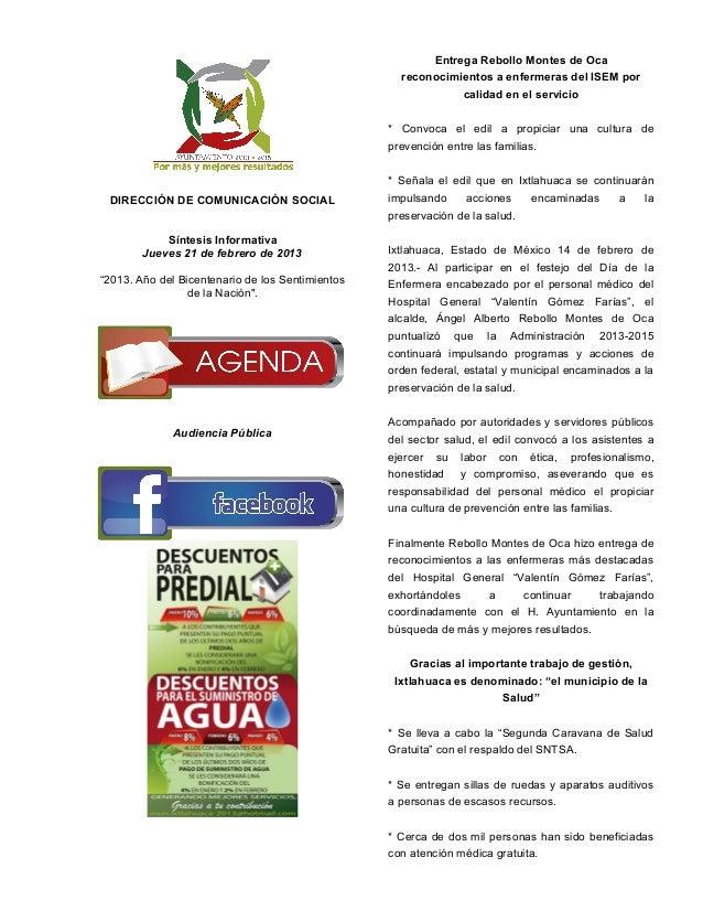 Entrega Rebollo Montes de Oca                                                    reconocimientos a enfermeras del ISEM por...