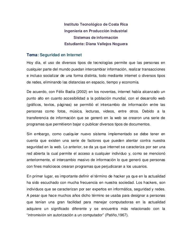 Instituto Tecnológico de Costa Rica                      Ingeniería en Producción Industrial                            Si...