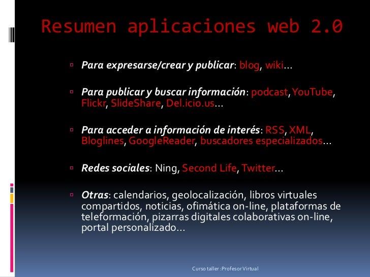 Resumen aplicaciones web 2 Slide 2