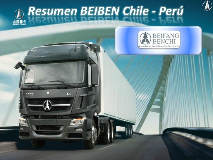 Resumen BEIBEN Chile -‐ Perú        Preparado por CFO & Business Development ®