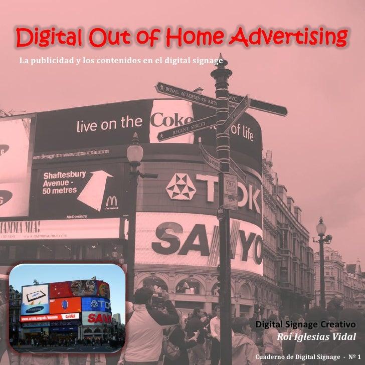 Digital Out of Home Advertising La publicidad y los contenidos en el digital signage                                      ...