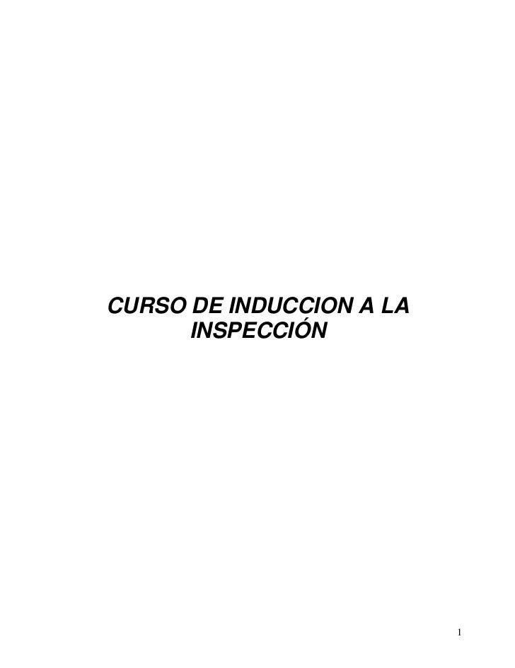 CURSO DE INDUCCION A LA      INSPECCIÓN                          1
