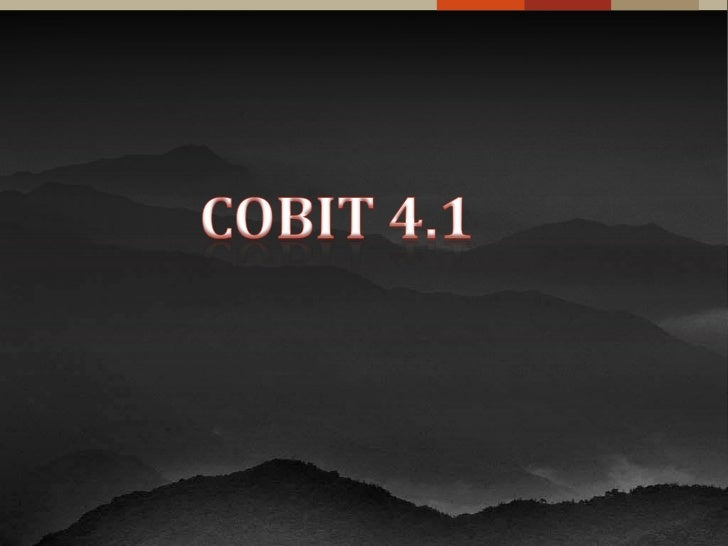 COBIT 4.1<br />