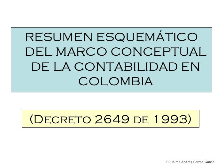 Resumen decreto 2649_de_1993