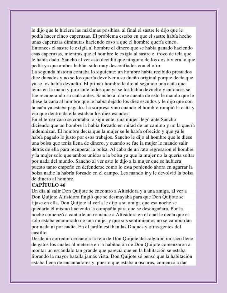 resumen de don quijote