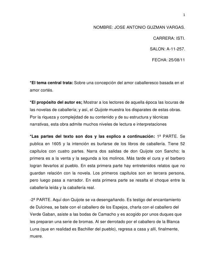 Resumen De Don Quijote De La Mancha3