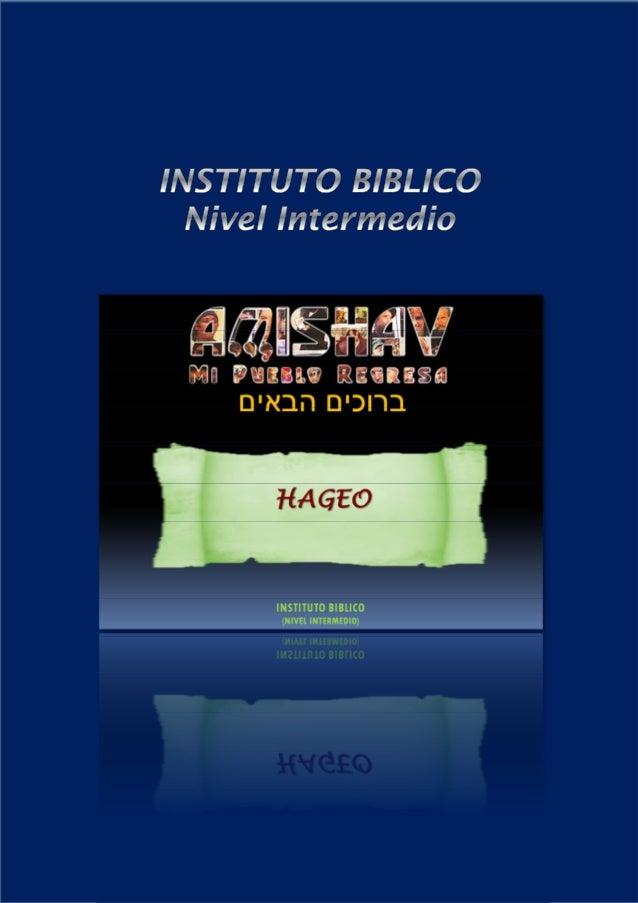 DESCUBRE LA BIBLIA – Nivel Intermedio                                                                         HAGEO – Pano...