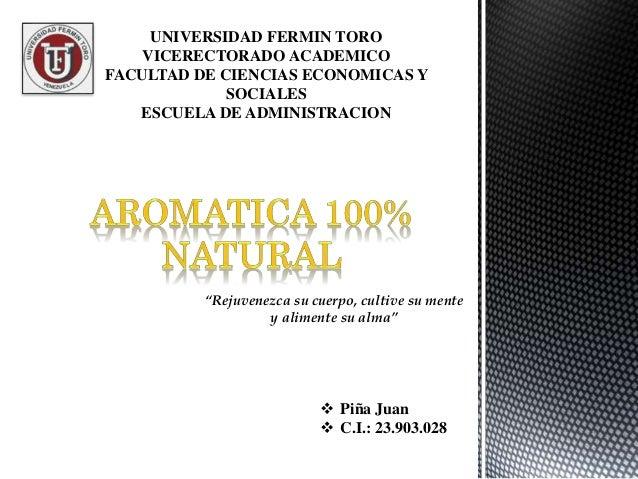 """UNIVERSIDAD FERMIN TORO VICERECTORADO ACADEMICO FACULTAD DE CIENCIAS ECONOMICAS Y SOCIALES ESCUELA DE ADMINISTRACION """"Reju..."""