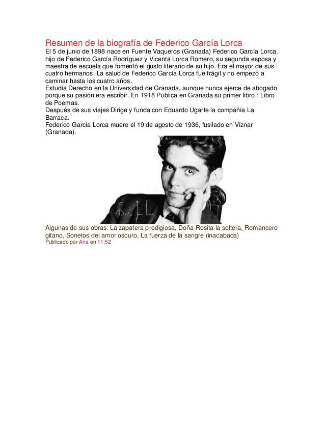 federico garcia lorca biography