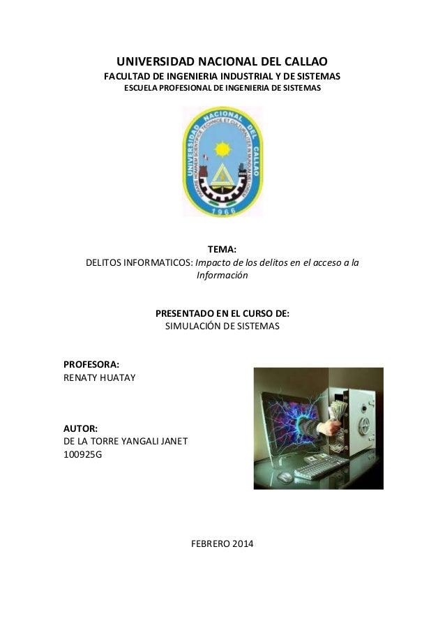 UNIVERSIDAD NACIONAL DEL CALLAO FACULTAD DE INGENIERIA INDUSTRIAL Y DE SISTEMAS ESCUELA PROFESIONAL DE INGENIERIA DE SISTE...