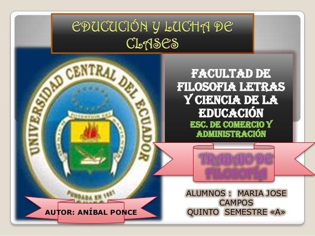 FACULTAD DE                      FILOSOFIA LETRAS                       Y CIENCIA DE LA                          EDUCACIÓN...