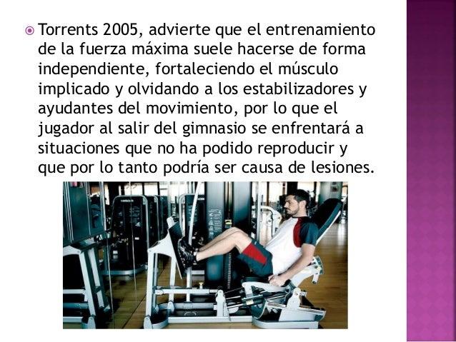 Tous 2003, entrenamiento de la fuerza para:  Prevención de lesiones  Mejora del rendimiento.