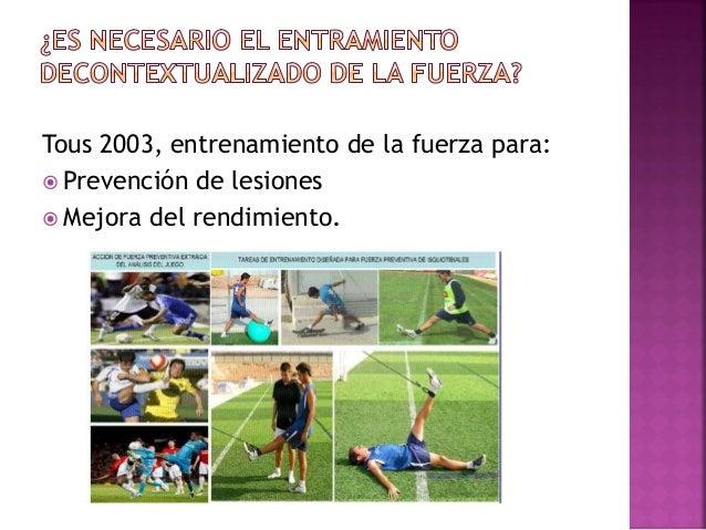  Relacionado con la ejercitación de grupos musculares no trabajados durante la sesión.  Como compensación en el déficit ...