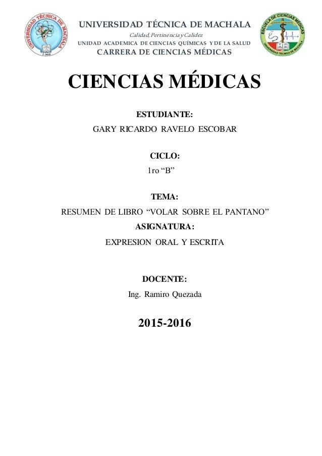 UNIVERSIDAD TÉCNICA DE MACHALA Calidad,PertinenciayCalidez UNIDAD ACADEMICA DE CIENCIAS QUÍMICAS Y DE LA SALUD CARRERA DE ...