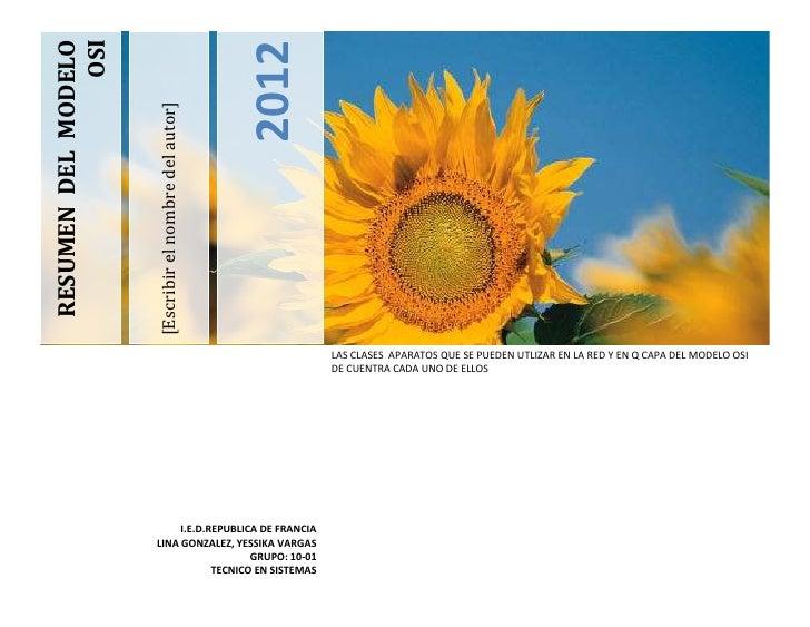 RESUMEN DEL MODELO               OSI                                                      2012                     [Escrib...