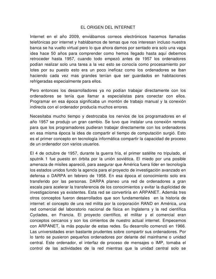 ORIGEN DEL INTERNET <br />RODRIGO ANDRES GONZALEZ BERNAL<br />UNIDAD CENTRAL DEL VALLE (UCEVA)<br />II SEMESTRE, INGENIERÍ...