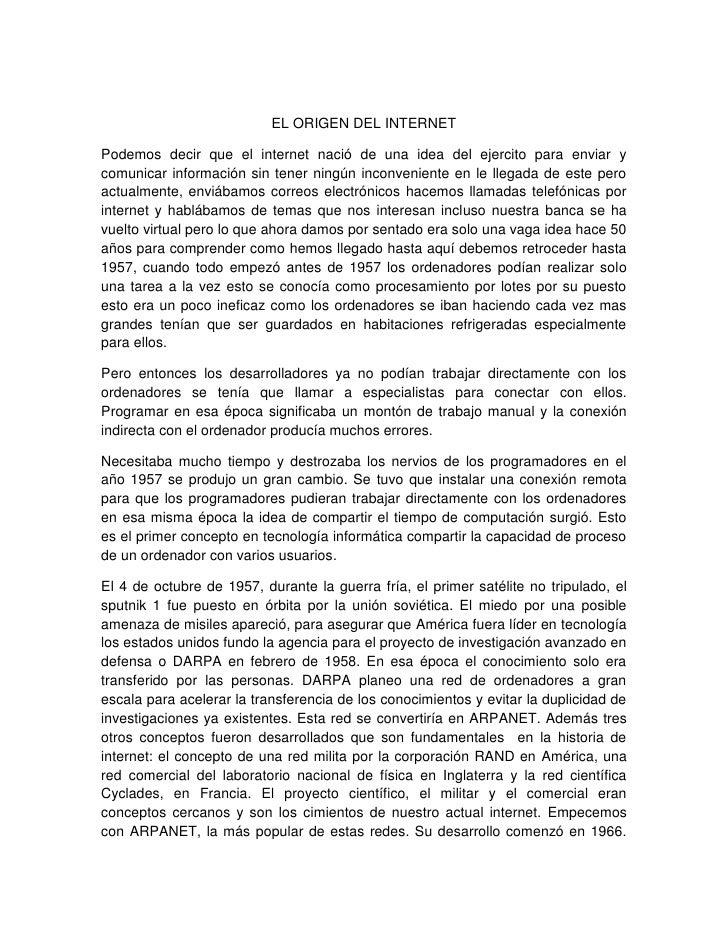 Resumen Del Origen Del Interntet Slide 2