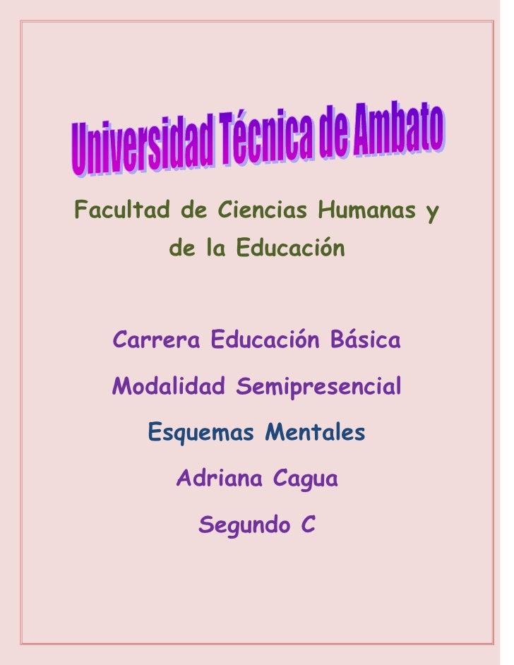 Facultad de Ciencias Humanas y       de la Educación   Carrera Educación Básica   Modalidad Semipresencial      Esquemas M...