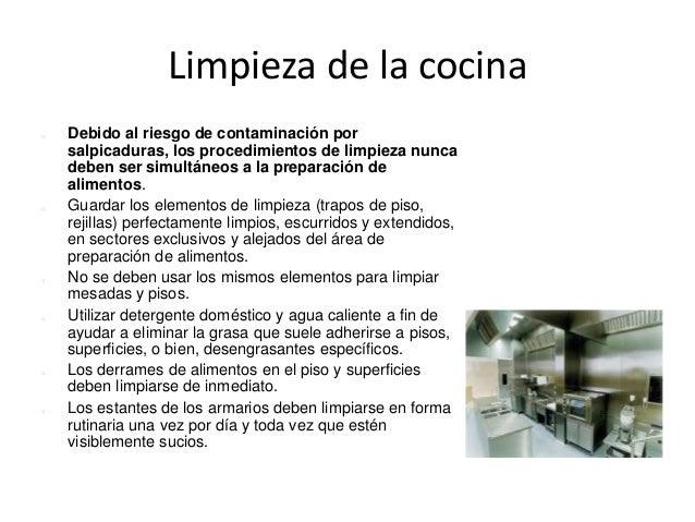Medioambiente y limpieza de superficies for Manual de limpieza y desinfeccion para una cocina